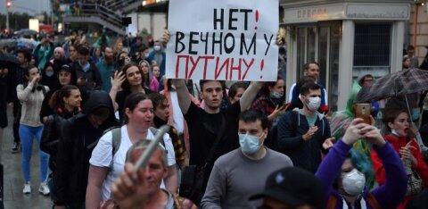 Акция против поправок к Конституции РФ в Москве закончилась задержанием 130 человек — в том числе случайных прохожих