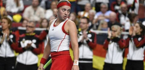 FOTOD | Esinumbrita mänginud Lätil ei õnnestunud kodupubliku ees Fed Cupi Maailmaliigasse murda