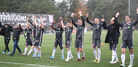 FOTOD | Sander Puri väravad tõid Kaljule magusa võidu ning lükkasid Flora tiitlipeo edasi