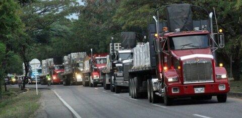 Venezuela piirile kuhjub tonnide kaupa humanitaarabi