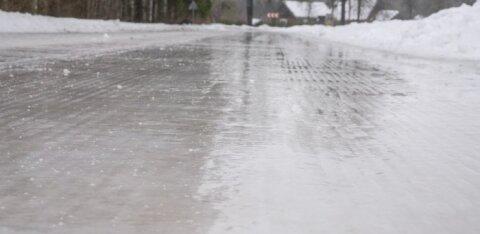 Передвигайтесь осторожно! Департамент предупреждает: сегодня многие участки дорог будут скользкими