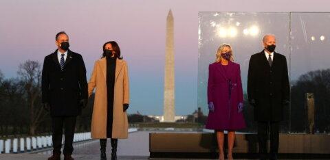 FOTOD | Jill Bideni ja Kamala Harrise COVIDi ohvrite mälestamispäevaks valitud rõivad vihjavad, millised muutused Valges Majas aset leidma hakkavad