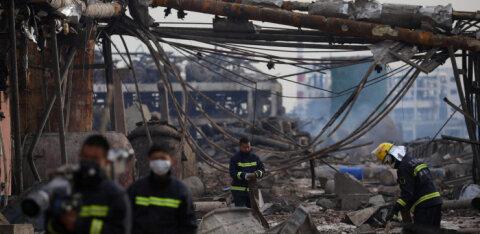 Hiina keemiaplahvatuses hukkunute arv kasvas 64-ni