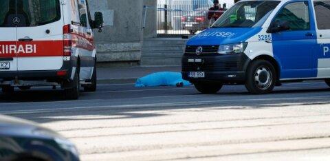 ФОТО | На Нарвском шоссе в центре Таллинна произошло ДТП с летальным исходом