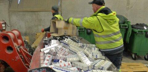 Многомиллионная партия контрабандных сигарет могла предназначаться для заказчика из России