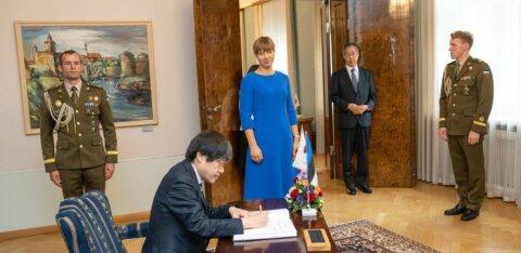 FOTOD   Eesti riigipeale andsid volikirjad Kreeka, Jaapani, Küprose ja Jordaania Hašimiidi Kuningriigi suursaadikud