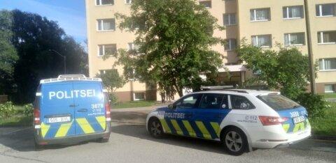 ФОТО С МЕСТА ПРОИСШЕСТВИЯ   В Ласнамяэ мужчина выпал из окна и погиб