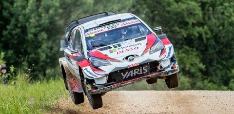 VIDEO | Äsja Rally Estonial võidutsenud Ott Tänak andis kuuma Soome ralli testil