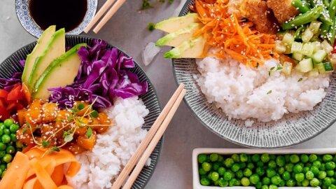 Värvilised riisikausid
