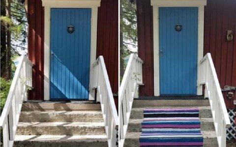 Зачем финны красят причалы и террасы под полосатые лоскутные ковры