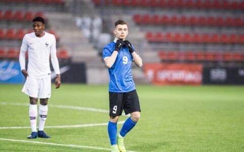 69dd2198e31 Aleksandr Šapovalov Eesti U17 koondise ridades võidumängus Prantsusmaa vastu