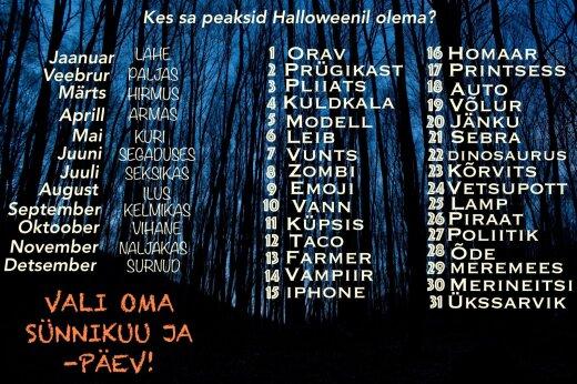 Kes oleksid Halloweenil?