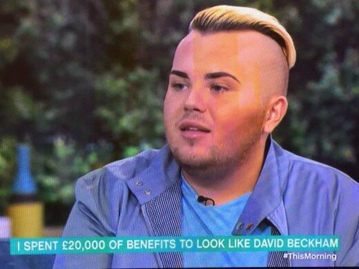 Internet kihab: mees maksis 26 tuhat dollarit, et näha välja nagu David Beckham, kuid meenutab hoopis Miley Cyrust