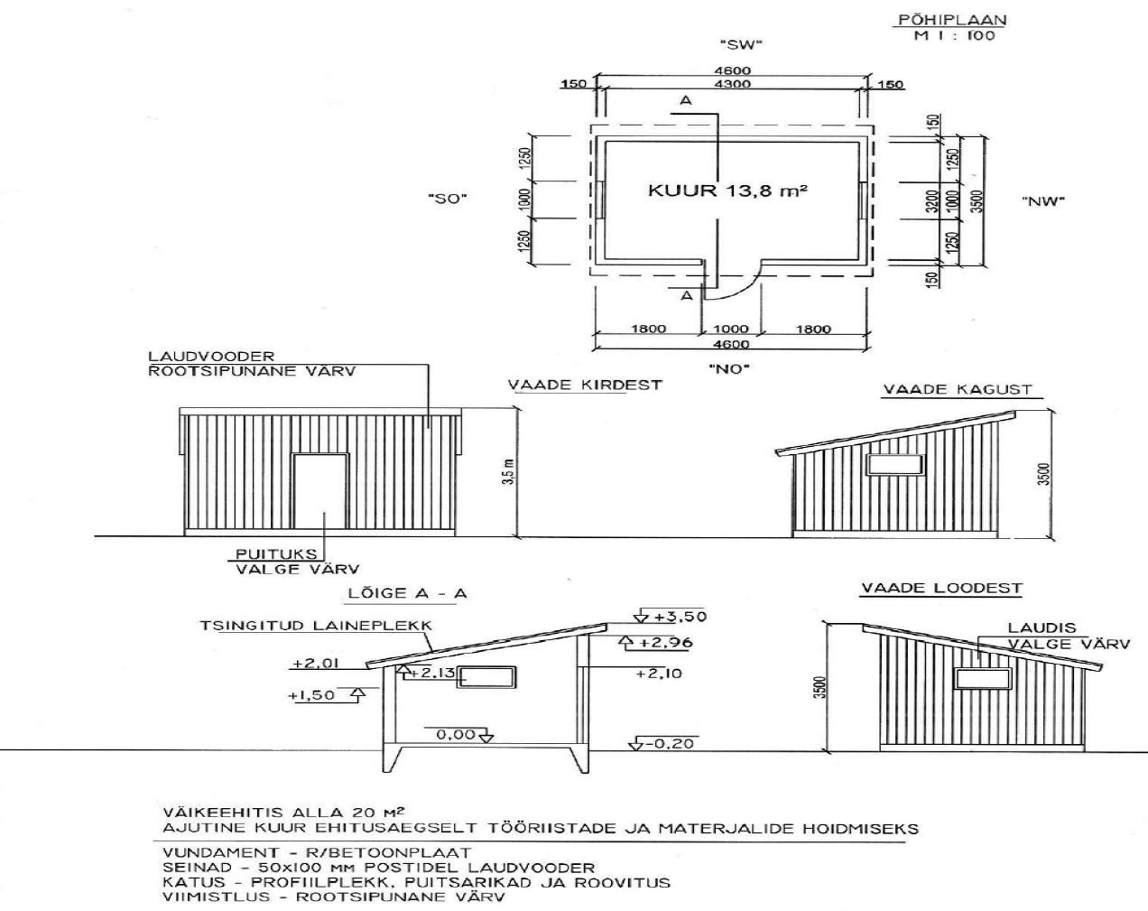 Detailplaneeringu kohustusega aladel peab ehitise omanik kuni 220 m ehitisealuse pinnaga väike-ehitise püstitamise kavatsusest teavitama vallavalitsust, esitades taotluse ehitise püstitamiseks koos asendiplaani ja väikeehitise arhitektuurse lahendusega, millel on põhiplaan, vaated ja vajadusel ka lõige ning ära märgitud põhi-mõõdud: pikkus, laius, kõrgus. Joonis ei pea olema koostatud arvutis, sobib ka käsitsi tehtud variant.
