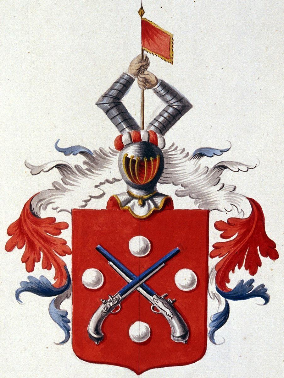 Rutikvere mõisa valitsenud von Pistohlkorside aadlisuguvõsa vapp.