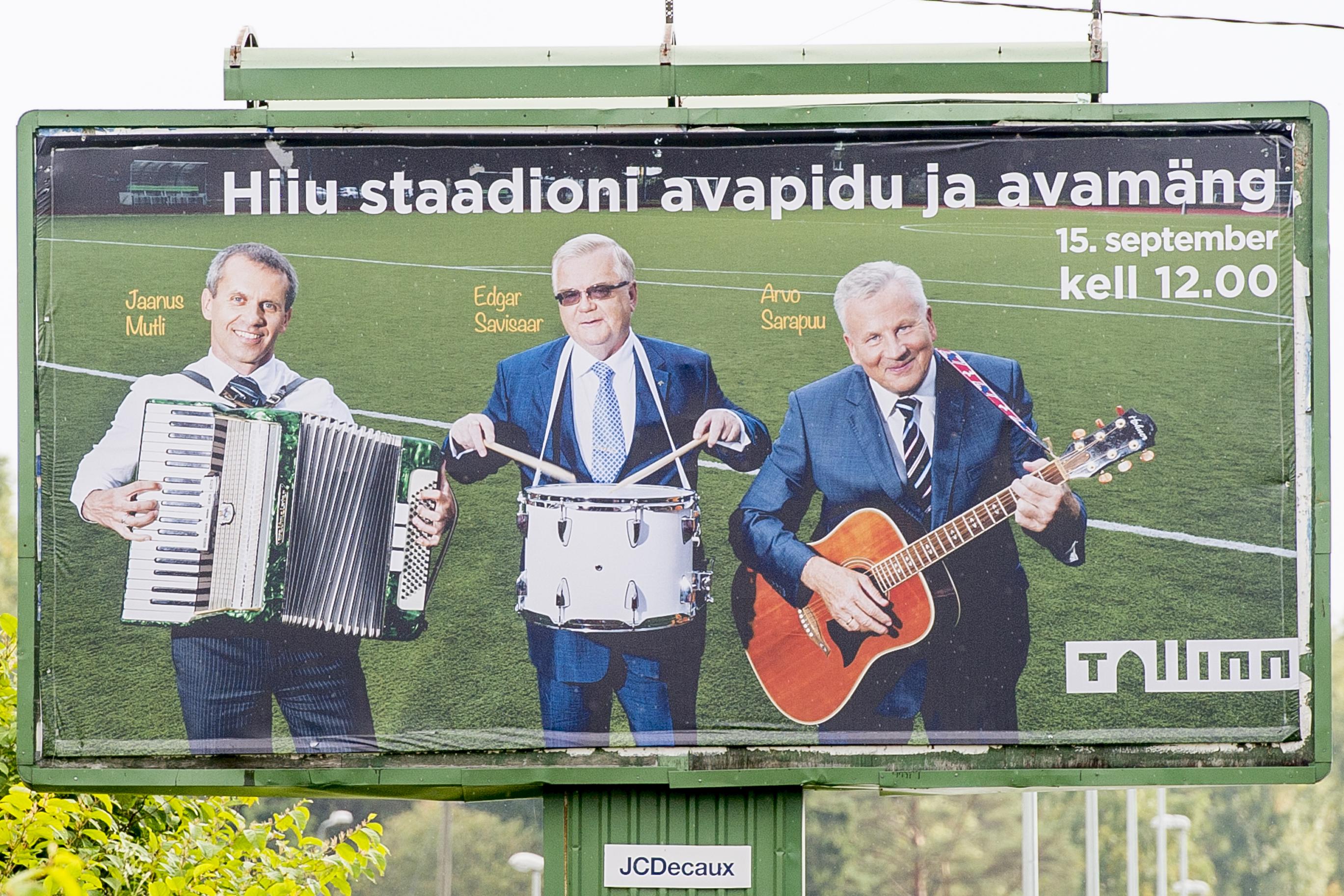 Hiiu staadioni avamise reklaam
