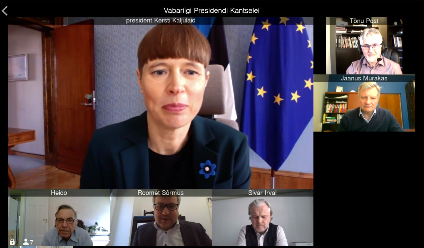 Kersti Kaljulaidi videokohtumine põllumeestega