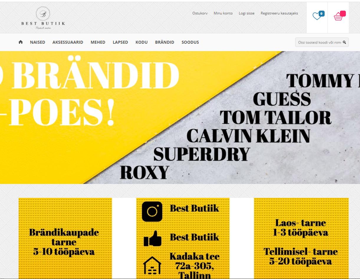 Best Butiigi veebileht internetis.