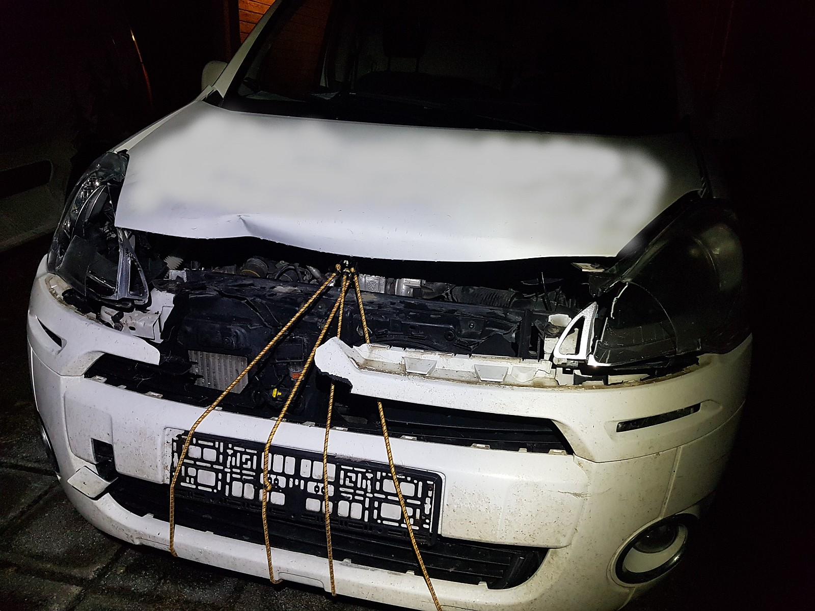 Fotol: õnnetusse sattunud sõiduk. Allikas: PZU