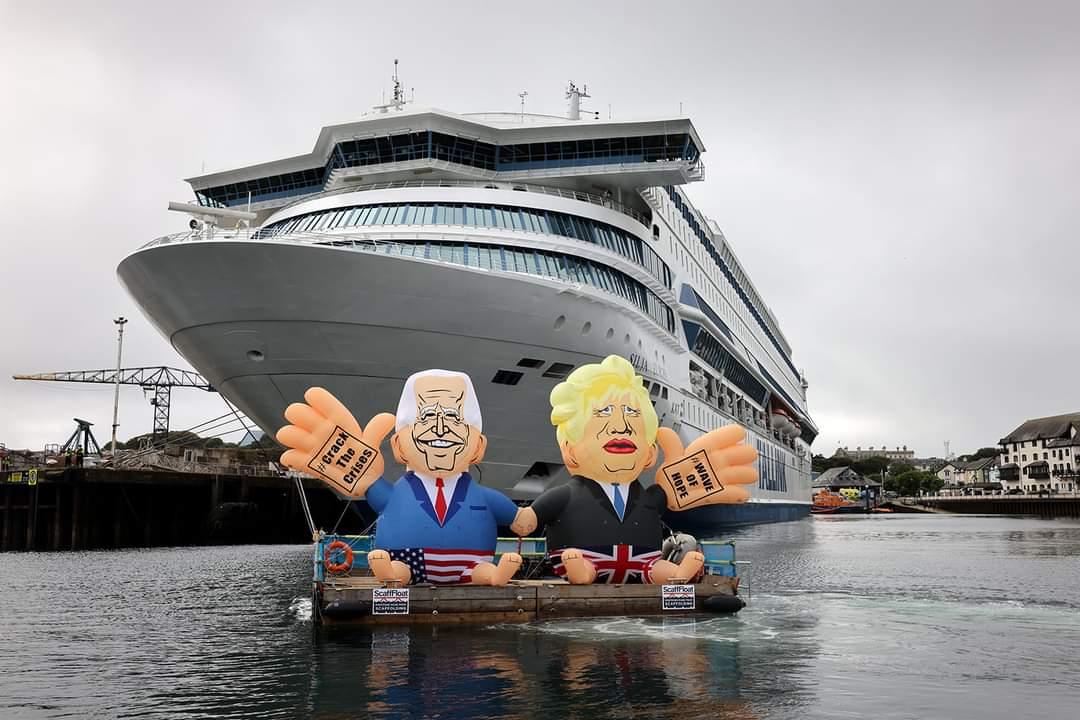 Tallinki laev kliimaprotesti keskmes