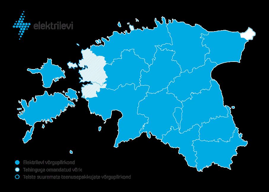 Elektrilevi võrguteenuse piirkond laienes Läänemaale ja Viimsisse